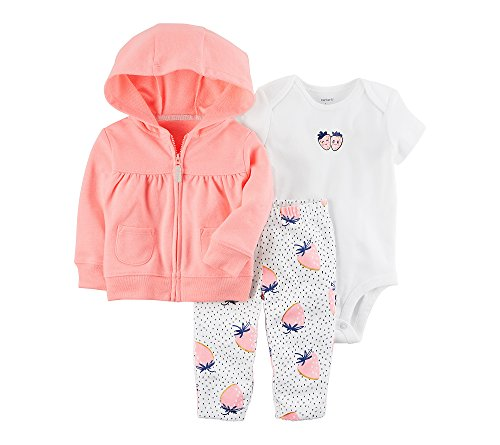 3 Piece French Terry Jacket - Carter's Baby Girls' 3 Piece Little Jacket Set 9 Months