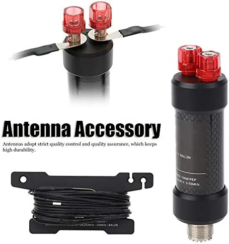 Fafeicy Antena Balun, Balun Negro Resistente al Agua 5-50MHz ...