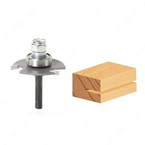 Slotting Cutter Assemblies with 1/4 Shank and Carbide Tipped - 3 Wings, Arbor Kerf (B) 1/16 in (Kerf 3 Wing Slotting Cutter)