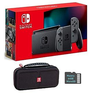 Nintendo Switch Bundle w/Case & SD Card: Nintendo Switch 32GB Console with Gray Joy-Con, Mazery SD Card & Travel Case