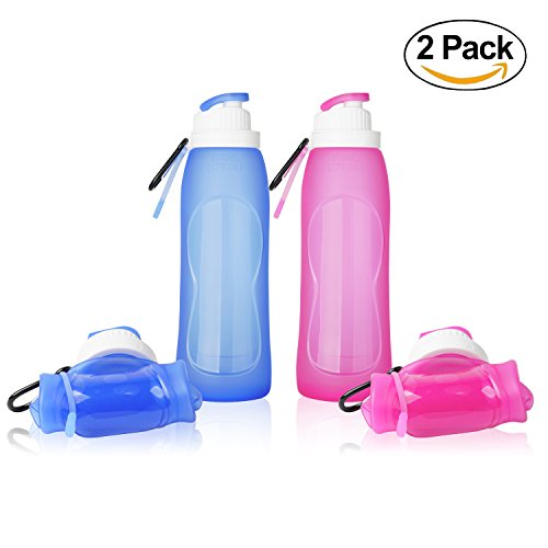 ll127 Collapsible Water Bottles, TurnRaise Silicone Hiking W