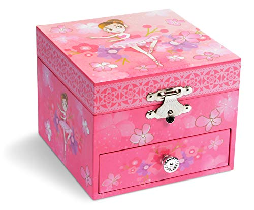 Jewelkeeper Musical Ballerina Jewelry Box, Precious Pink Ballerina Design with Pullout Drawer, Swan  - http://coolthings.us