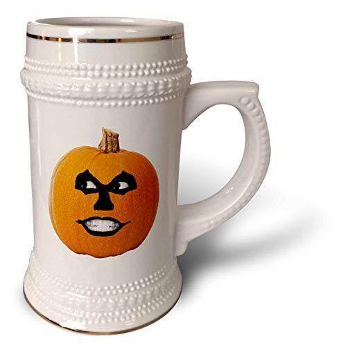3dRose Sandy Mertens Halloween Food Designs - Jack o Lantern Scary Sinister Face Halloween Pumpkin, 3drsmm - 22oz Stein Mug (stn_290215_1) -