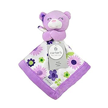 Amazon.com : Carter's Purple Bear Security Blanket with Plush by ... : triboro quilt - Adamdwight.com