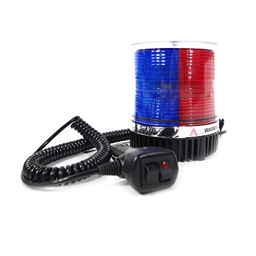 Xprite High Intensity Red Blue Revolving 12 LED Emergency Vehicle Magnetic Mount Strobe and Rotating Beacon Warning Light (Mount Strobe Light)