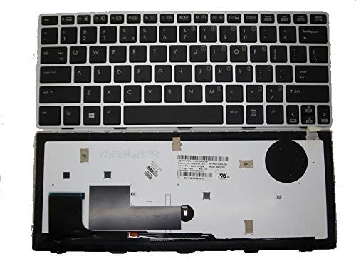 GAOCHENG Laptop Keyboard for HP ELITEBOOK Revolve 810 G1 810 G2 810 G3 Black with Sliver Frame/&Backlight India in SG-57700-3EA 90.4XF07.L1H 706960-D61 SN8123BL 716747-D61