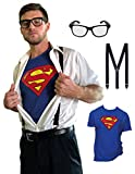 Clark Kent Cosplay Costume with Accessories