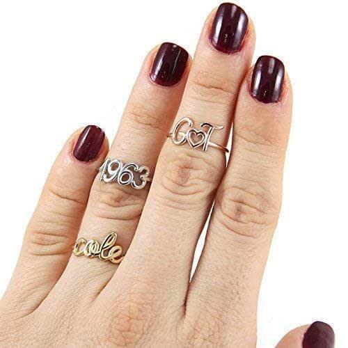 bar ring Gold name ring custom name ring,mom ring name ring custom gold ring bar name ring,persinalized gold ring 14 kt gold name ring