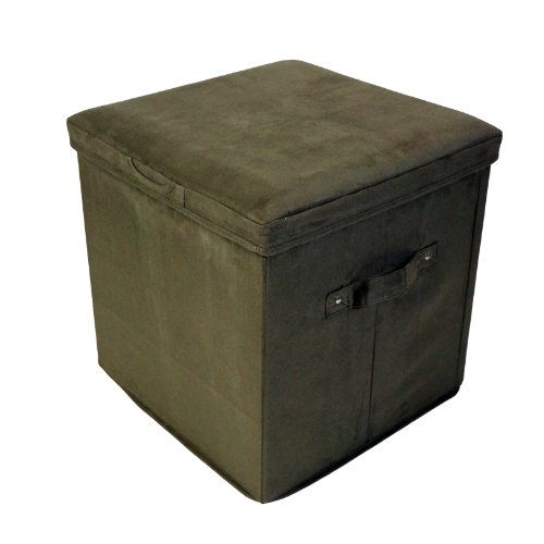 Casual Home Folding Storage Ottoman Microsuede, Sage