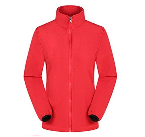 Fleece Esquí Rojo Aire Chaqueta Libre Impermeable Deportiva Nieve Mujeres Al Capas Senderismo ZKOO Chubasqueros Chaqueta 2 de Hombres de Chaqueta Mujere qf8PtH
