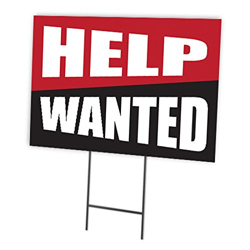 Help Wanted Full Color Double Sided Sign ()
