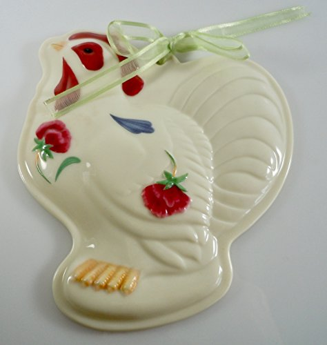 Lenox Poppies on Blue Barnyard Collection - Rooster Cookie Press ()
