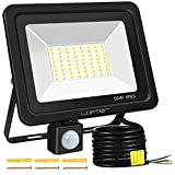 Motion Sensor LED Security Light, LOFTer Upgraded 50W 64LED 4000lm Ultra Bright PIR Sensor Outdoor Floodlight, IP65 Waterproof LED Security Lighting for Garden Backyard Garage Patio Doorways, 6000K