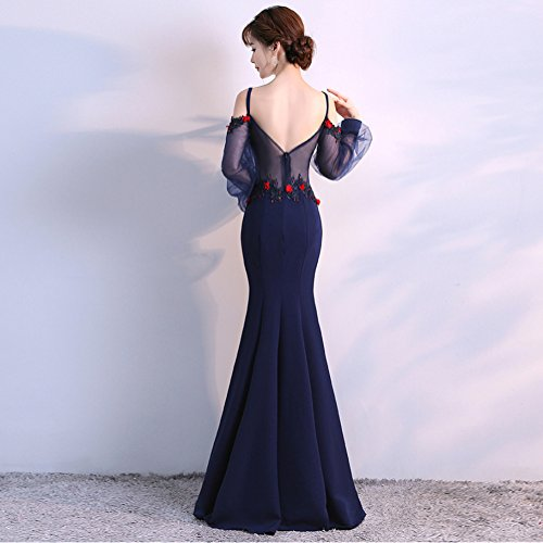 harter Sleeveless Built Slim Gown Bra In Party Blue cotyledon Dresses Mermaid Women`s 8qIxwfX