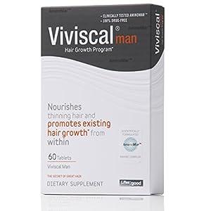 Viviscal Man Maximum Strength Hair Nourishment System, 60 Tablets(for men)