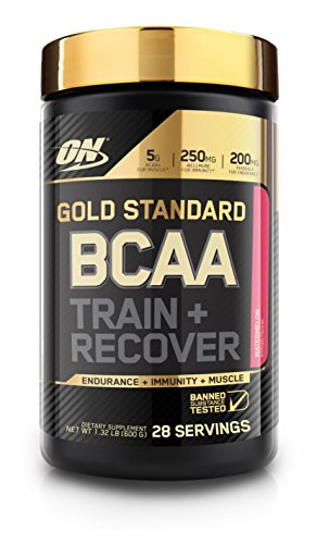 Optimum Nutrition Gold Standard BCAA, Watermelon, 28 Servings, Branched Chain Amino Acids, 5g BCAA blend