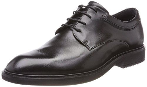 Ecco Mens Vitrus Ii Plain Toe Tie Oxford Black
