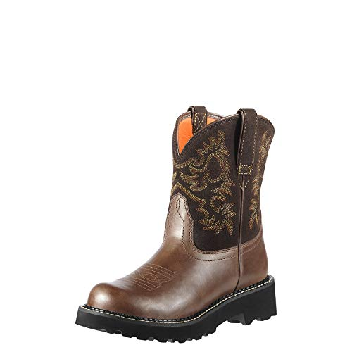 ARIAT Women's Fatbaby Western Boot Brown Rebel Size 8.5 M Us