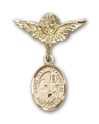 Icecarats Or Bijoux De Créateurs Rempli R. Mary Charme Magdalene Ange Broche De Badge 1 X 3/4