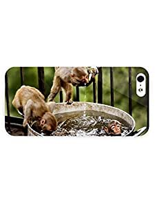 3d Full Wrap Case For Sam Sung Note 3 Cover Animal Monkey Drinking Water