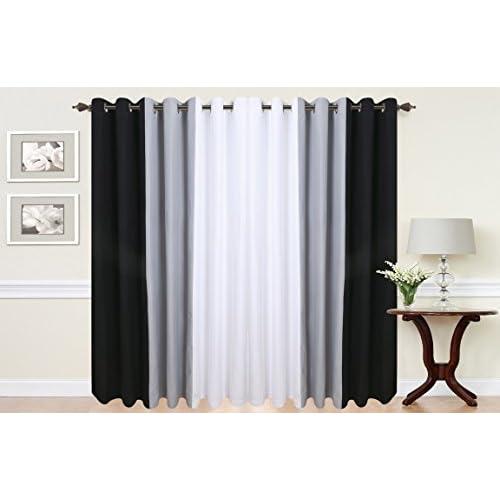 grey black curtains. Black Bedroom Furniture Sets. Home Design Ideas