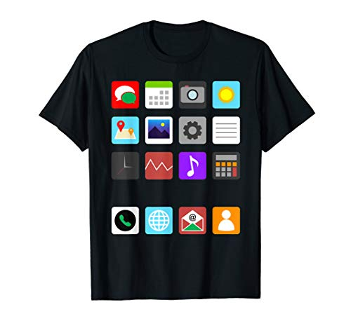 Smartphone Mobile App Cell Phone Halloween Costume Gifts T-Shirt -
