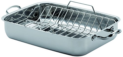 Lagostina 18/10 Stainless Steel Roasting Pan with Rack