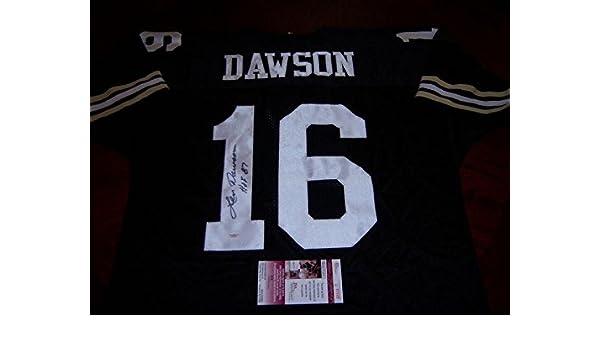 new style 877b9 22e8b Autographed Len Dawson Jersey - Purdue hof coa - JSA ...