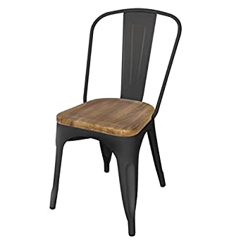 bolero gg707 dining side chairs with wooden seat pad. Black Bedroom Furniture Sets. Home Design Ideas