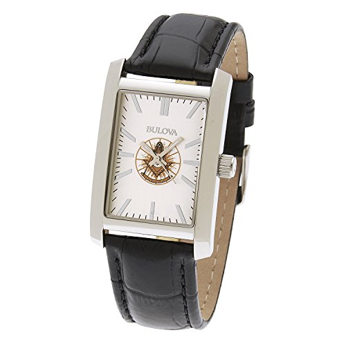 Men's Stainless Steel Bulova Freemason Masonic Past Master Watch ()