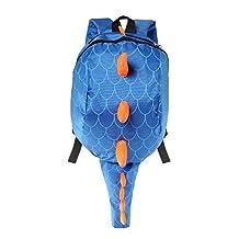 Deer Mum Children's Backpack 3d Cute Little Dinosaur Schoolbag Toddler Kids Daypack (Blue)