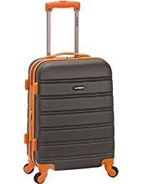 Rockland Luggage Melbourne 20 Inch Expandable Carry On, Charcoal