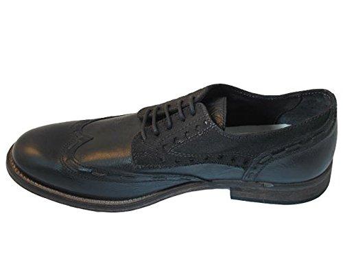 Montres Italiennes De Monomio Italian Designer 005 Robe / Casual Chaussures À Lacets Noir