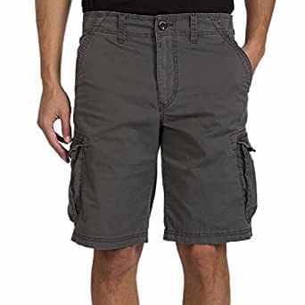 UNIONBAY Montego Cargo Shorts for Men Assorted Colors and Sizes - Comfort Stretch (30, Gray)