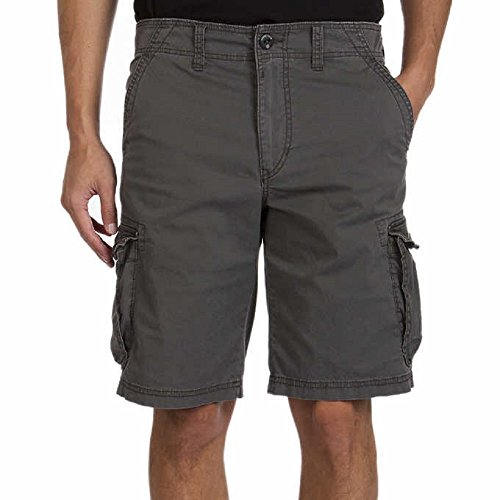 (Unionbay Montego Cargo Shorts for Men Assorted Colors and Sizes - Comfort Stretch (36, Gray) )