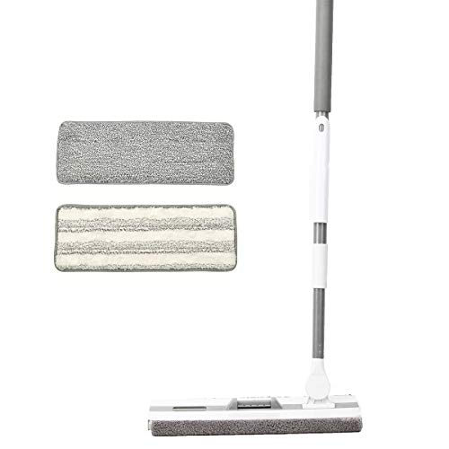 PICAD Microfiber Flat Mop Multi Slots Switch for Cleaning Hardwood and Floors, Includes: 1 Mop, 1 Dirt Removal Scrubber, 2 Pads Refills by PICAD (Image #7)