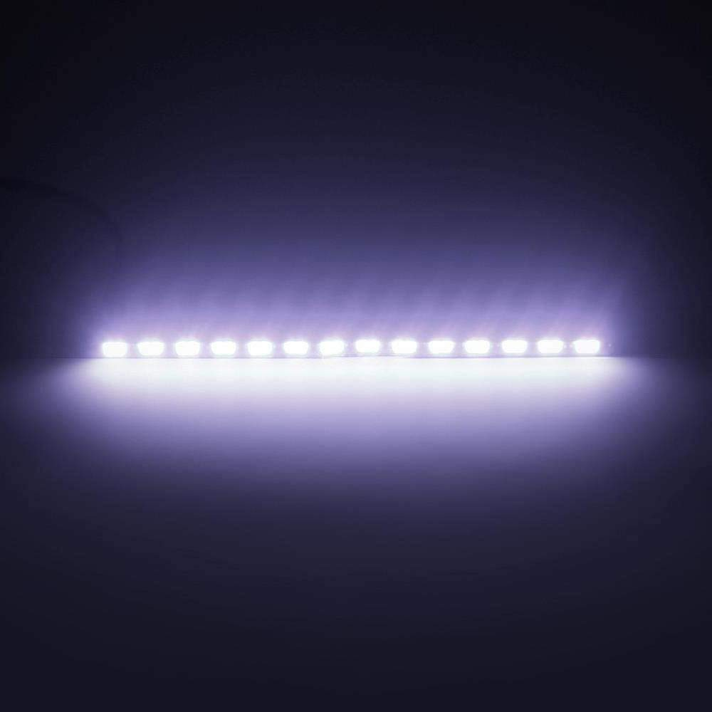Merssavo 2pcs Car Daytime Running Lights Universal Waterproof Super Bright DC 12V 7030 LED Light Strip Car Road Fog Lamp,1#