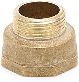 """Brass Adapter 0,5 inch x 0,75 inch Female Pipe Fitting NPT Adapter 1//2 Male x 3//4 /"""" Female"""
