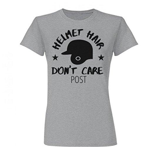 [Helmet Hair Don't Care Post: Junior Fit Basic Fine Jersey T-Shirt] (Don Post Helmet)