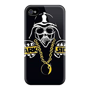 High Grade Jogers Flexible Tpu Case For Iphone 4/4s - Dark Side