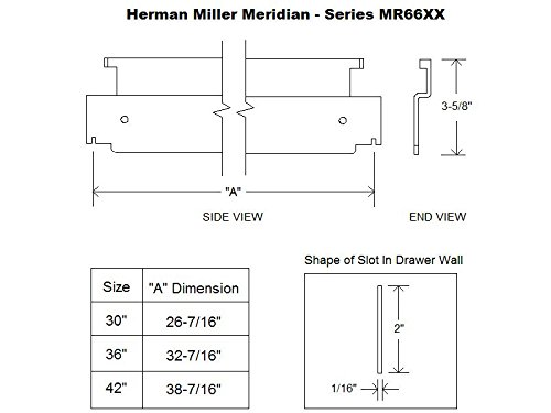 Herman Miller Meridian 36'' Lateral File Bar (6)
