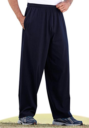 Kingsize Men's Big & Tall Jersey Knit Cargo Pants, Heather Graphite Big-5Xl