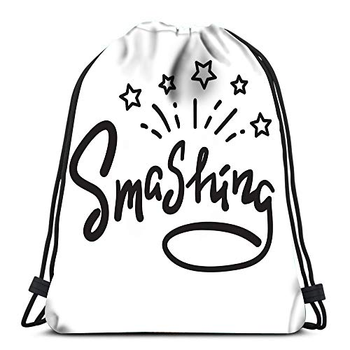 Drawstring Bags Backpack Smashing Emotional Fancy Quote American Slang Urban Dictionary Travel Backpacks Tote School ()