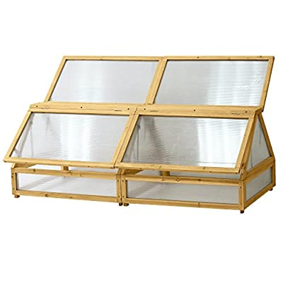 Vegtrug VTCFMN 0580 USA Medium 1.8m Natural Cold Frame by Vegtrug