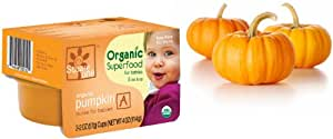 6 Months & Up Square One Organics Frozen Pumpkin Purees (12 Twin Packs), 24 individual 2 oz. servings