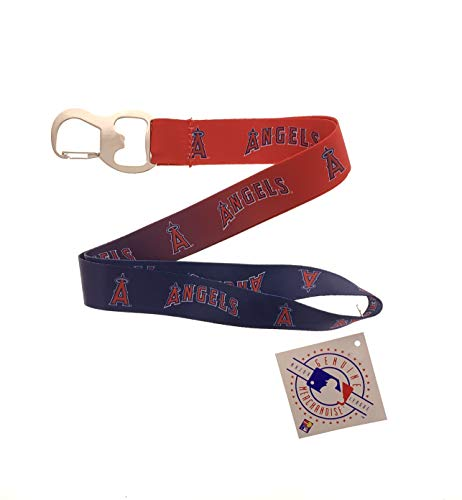 Sports Keychain Baseball Lanyard with Bottle Opener (Angels)