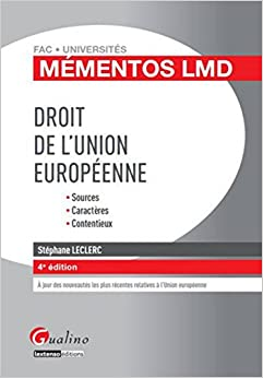 Droit de l'Union européenne, 4ème Ed.