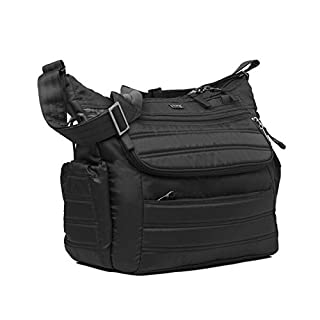 Lug Hula Hoop Carry-All Messenger, Midnight Black, One Size