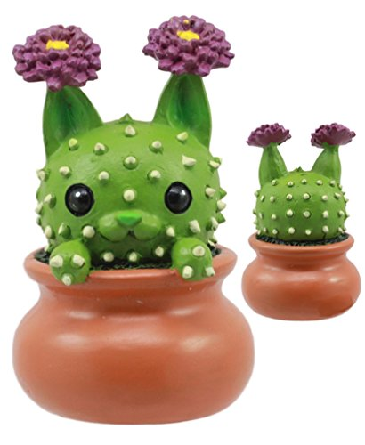 (Ebros Cattus The Cactus Cat in The Pot Figurine Whimsical Cat That Transforms Into A Cactus Plant Small 2.25