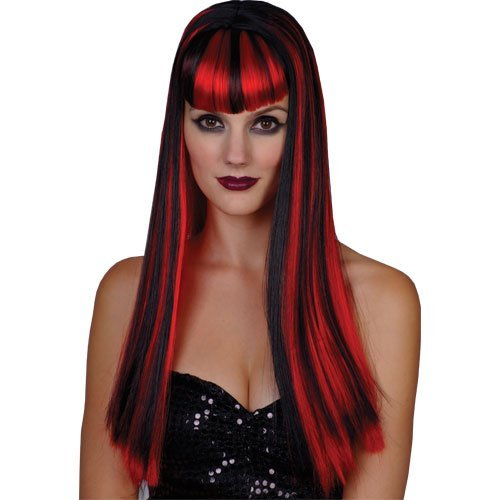 Ladies Vamp Vixen Wig Outfit Accessory for Fancy Dress Womens by Wicked Wicked